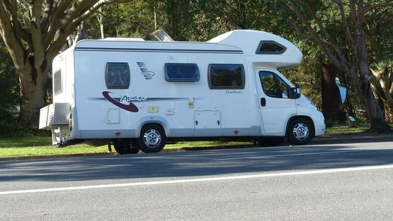 an image of a motorhome that will undergoing servicing